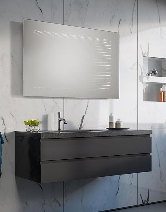 Badspiegel 3d Illusion Led Spiegelkonzept De